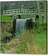 Waterfall And Bridge Canvas Print