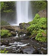 Waterfall In Gorge - Columbia River Gorge Canvas Print