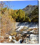 Waterfall In The Desert Canvas Print