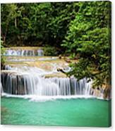 Waterfall In Tropical Forest Canvas Print