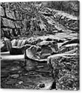 Waterfall Mono Canvas Print