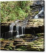 Waterfall Over Rocks Canvas Print
