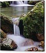 Waterfall, Peter Lougheed Provincial Canvas Print