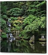 Waterfall - Portland Japanese Garden - Oregon Canvas Print