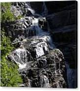 Waterfalls Along Going-to-the-sun Road Canvas Print