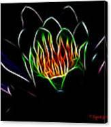 Waterlily Fractal Canvas Print