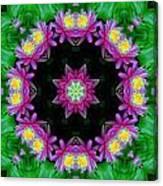 Waterlily Kaleidoscope Canvas Print
