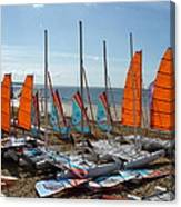 Watersports In La Baule Canvas Print