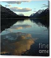 Waterton Lake Sunset Canada Canvas Print