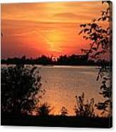 Waubaushene Sunset Canvas Print