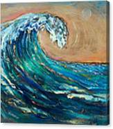 Wave To The South Canvas Print
