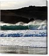 Waves At Clogher Beach Canvas Print