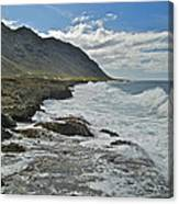 Waves At Kaena State Park 7847 Canvas Print