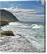 Waves Breaking On Shore 7876 Canvas Print