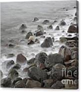 Waves Hitting The Shore Canvas Print