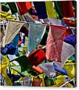 Waving Prayer Flags Canvas Print