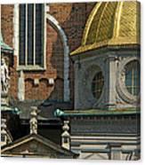 Wawel Domes In Krakow Poland Canvas Print