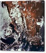 Weather Patterns Over Earth Canvas Print