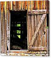 Weathered Barn Door Canvas Print