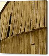 Weathered Barn I In Sepia Canvas Print