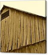 Weathered Barn II In Sepia Canvas Print