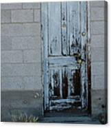 Weathered Door Virginia City Nevada Canvas Print