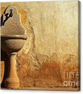 Weathered Water Faucet Canvas Print
