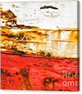 Weathered With Red Stripe Canvas Print
