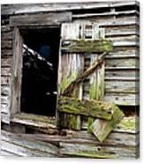 Weathered Wood Window Canvas Print