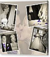 Wedding Album Page - Fine Art Canvas Print