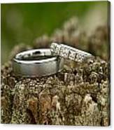 Wedding Bands And Fence Post 12 Canvas Print
