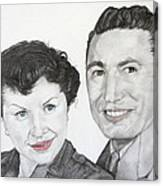 Wedding Day 1954 Canvas Print
