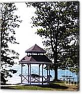 Wedding Gazebo By Lake Erie At Evangola State Park Canvas Print
