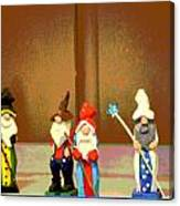 Wee Wooden People Canvas Print