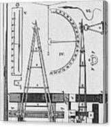 Weighbridge And Hygrometer, 18th Century Canvas Print