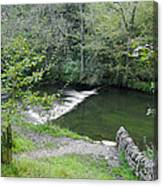 Weir Below Lover's Leap - Dovedale Canvas Print