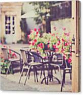 Welcome To The Restaurant Canvas Print