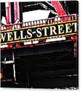Wells Street Sign Canvas Print