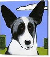Welsh Cardigan Corgi Canvas Print