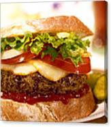 Wendy's Burger Canvas Print
