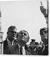 Wernher Von Braun Explains The Saturn Canvas Print