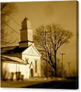 West Barre Church Canvas Print