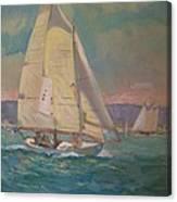 West Coast Sailing Canvas Print