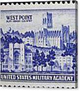West Point Postage Stamp Canvas Print