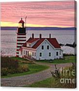 West Quoddy Head Lighthouse Canvas Print