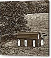 West Virginia Sepia Canvas Print