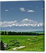 Westerly View Of The Bridger Mountains Canvas Print