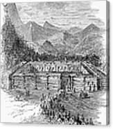 Western Fort, 19th Century Canvas Print