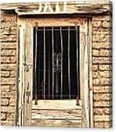Western Jail House Door Canvas Print