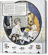 Westinghouse Ad, 1924 Canvas Print